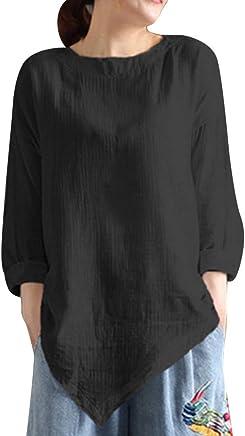 カットソー Joielmal Tシャツ レディース 綿麻生地 不規則 丸首 体型カバー 無地 リネン 長袖シャツ 上着 良質素材 トップス 森ガール インナー ファッション ブラウス ゆったり プルオーバー 着痩せ カジュアル 無地