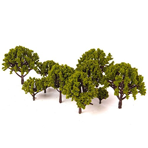 OUNONA 20 stücke Modell Landschaft Landschaft B?ume Decor Künstliche Miniatur Matt Micro Landschaft DIY Handwerk Garten Ornament 3 cm-8 cm (Grün)