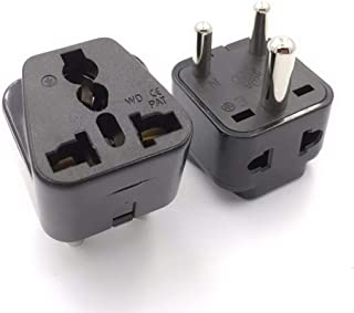 GOUWEI Universal 2 in 1 Grounded India Pakistan Israel Singapore Power Connector Japan au EU us UK to India Travel Adapter...