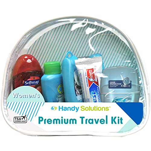 Handy Solutions Premium Women's 7Piece Travel Size Kit, clear, 1 Count