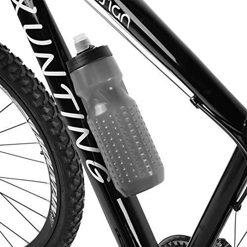 DAUERHAFT Ahorra Dinero y Espacio Botella de Ciclismo Moldeada con imán de Alta Resistencia Gran Volumen Tire hacia Arriba rápidamente para liberar la Botella, para Montar al Aire Libre(Gray)