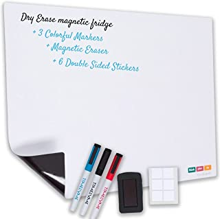 Magnetic Dry Erase White Board Planner Set for Fridge & Wall, Shopping List, Daily Planner, Notes, To-Do List, Menu Meal P...