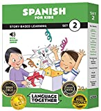 Spanish for Kids Set 2: 10 Beginning Spanish Reader Books with 100 More First...