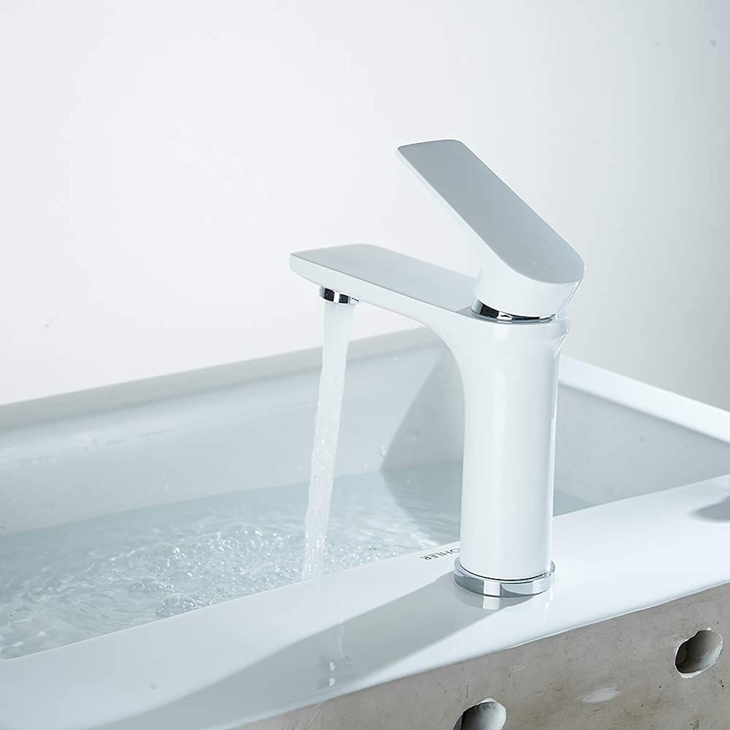 Basin Faucet,Modern Design Basin Sink Mixer Tap Modern Luxury Bathroom Lever Faucet,Hot And Cold Water Tap