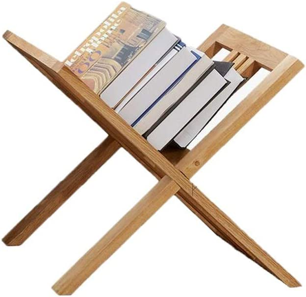 Solid Wood Floor Magazine Rack Storage Omaha Mall V-Shaped Book Stand Max 64% OFF