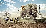 BCDJYFL Puzzle 1000 Piezas Piezas Rompecabezas de Crucigrama de Raza de Perro Elefante para Infantiles Adolescentes educativos Juegos de