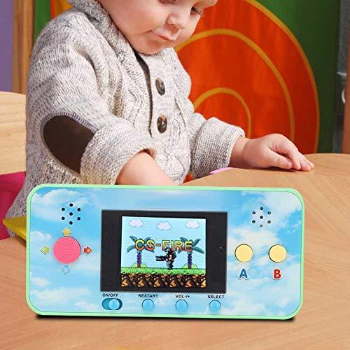 Wosune Mini Manette de Jeu de Poche, Console de Jeu Portable, Mini Lecteur Portable Portable Couleur vive résistance Jaune pour Amis(Green)
