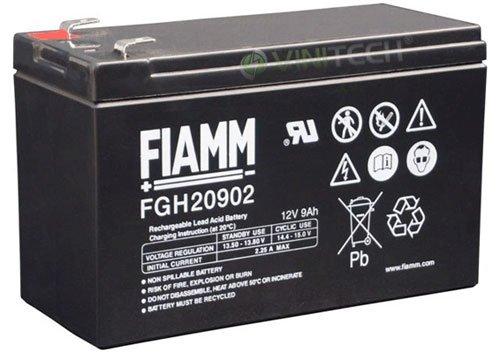 Batteria FIAMM 12FGH36 adatto per piombo-batteria 12 V 9Ah un'altezza energica, FGH20902 Faston 6,3 mm