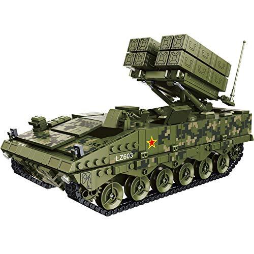 PEXL Juego de construcción de tanques, bloques de construcción, modelo militar, maqueta de tanque 1561, bloques de construcción compatibles con la técnica Lego