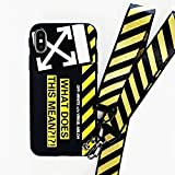 LIUSHENQING - Funda de silicona suave para iPhone 6, 6S, Plus, 7, 8, Plus, XXR XS Max, correa de flecha blanca Ix para iPhone 7