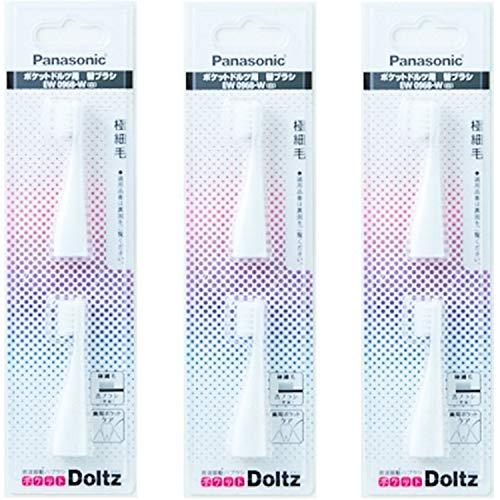 パナソニック ポケットドルツ用 極細毛ブラシEW0968-Wホワイト 2本入x3セット(計6本)