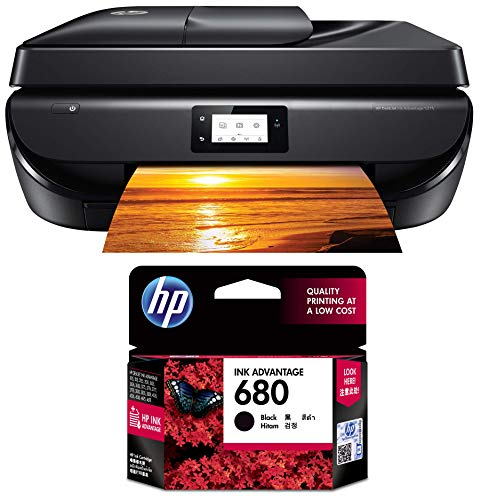 HP DeskJet 5275 All-in-One Ink Advantage WiFi Printer with FAX/ADF/Duplex Printing (Black) with Voice-Activated Printing (Compatible with Alexa and Google Assistant)