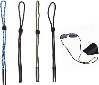 fa70da64c9 Chytaii 4pcs Correa de Gafas Seguridad Cuerda Cadena Ajustable Deportes  Gafas Soporte Correa Cordón de Gafas