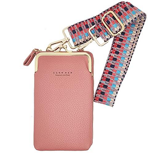 DAWANA Bolso bandolera pequeño para teléfono móvil, monedero o cartera, frutas del bosque,