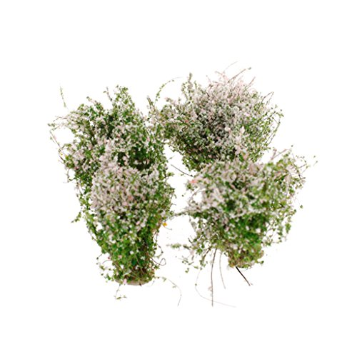 4pcs Landschaft Landschaft Modell Bodendecker Blume Modell Rosa Und Weißen