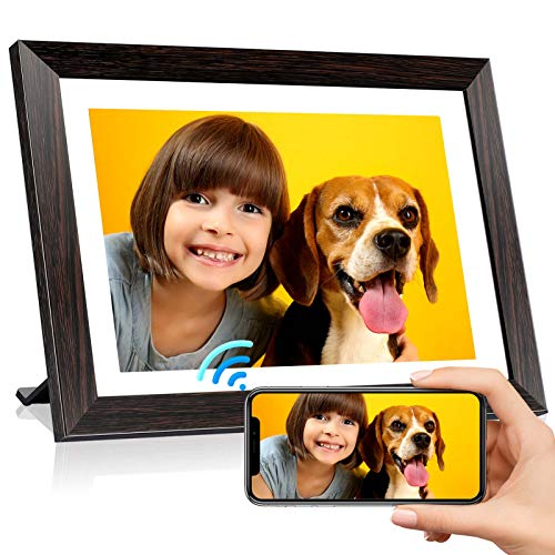 UeeVii Digital Picture Frame 10.1 Inch Digital Picture Frame WiFi with High-Resolution IPS Touch Screen HD Display, 16GB Storage, Auto-Rotate, Digital Picture Frame Share Photos & Videos via App