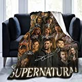 15 Years of Supernatural 15 Seasons Posters Blanket Sam and Dean Winchester Supernatural TV Show Merchandise Lightweight Comfortable Weighted Blankets for Living Room Bedroom Home Decoration (60'x50')