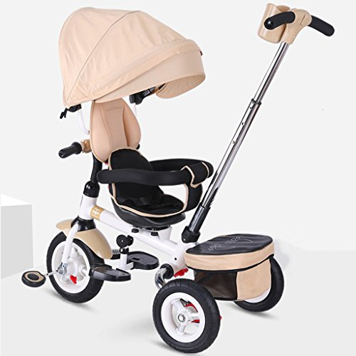 Elegante asiento giratorio portátil para niños Triciclo, 6 meses y 5 años...