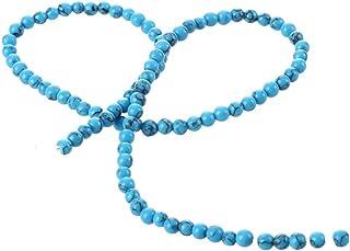 SODIAL(R) Filo Perline Perle Sfere forate in pietra Turchese 4mm