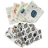 Bavaglini a bandana per bambini (4 pezzi), cotone biologico, asciugamani e bavaglini, super assorbenti, morbidi e traspiranti, saliva e dentizione, unisex. Prodotto da SOBBAH.