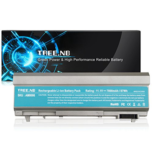 Tree.NB Battery Compatible with Dell Latitude E6400 E6410 E6500 E6510 Precision M2400 M4400 M4500,Fits P/N:PT434 KY265 KY265,7800mAh /11.1V /9 Cells High Performance Replacement Laptop Battery