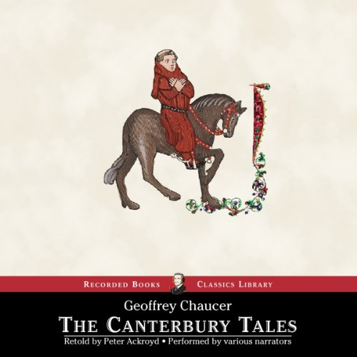 The Canterbury Tales: A Retelling                   Written by:                                                                                                                                 Peter Ackroyd                               Narrated by:                                                                                                                                 Keith Moore,                                                                                        Toby Leonard Moore,                                                                                        Colin McPhillamy,                   and others                 Length: 16 hrs and 55 mins     3 ratings     Overall 4.7