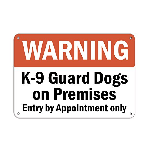 Warning K-9 Guard Dogs On Premises Entry by Appointment Only Vinyl Sticker Decal 8'