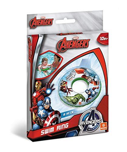Mondo Mondo-16304 Toys-Avengers Swim Ring-Ciambella Gonfiabile-Anello di Nuoto Salvagente-Ideale Bambina Utilizzabile in Piscina/mare-16304, Multicolore, 16304