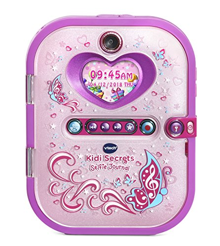 VTech Kidi Secrets Selfie Journal with Face Identifier, Pink