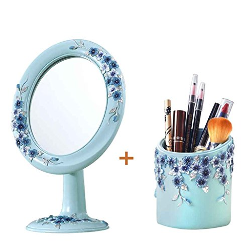 Miroir De Maquillage De Bureau Simple Miroir De Table Creative Portable Mode Mignon Princesse Dressing Miroir Haute Définition Miroir Exquise Et Belle Rotation à 360 degrés Xuan - worth having ( Couleur : B )
