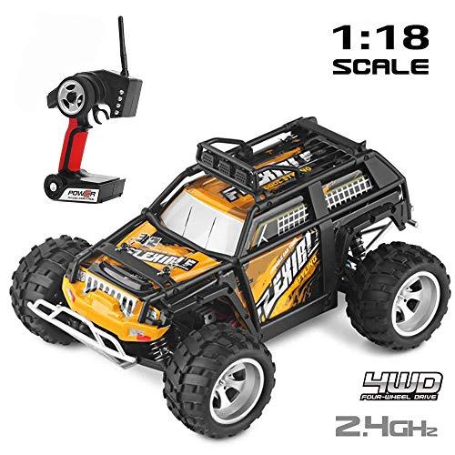 Mengen88 RC Auto 2,4 GHz 4 WD High Speed Crawler 1:18 schaal 40 km/h afstandsbediening buiten de straat Monster Trucks High Speed met twee achterwielen