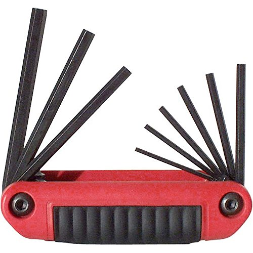 EKLIND 25911 Ergo-Fold Fold-up Hex Key allen wrench - 9pc set SAE Inch Sizes 5/64-1/4