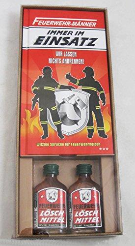 Andrea Verlag Feuerwehr Männer Immer im Einsatz Feuerwehrmänner freiwillige Feuerwehr Feuerwehrmann löschen Held (Feuerwehr Männer im Einsatz in Geschenk Box mit Kräuterlikör 14013)
