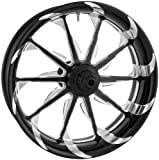 Xtreme Machine Launch Dual Disc Front Wheel - 21x3.5 - Black Cut Xquisite , Color: Black, Position: Front, Rim Size: 21 1204-7106R-XLAAJ-BMP