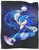 Manta de verano ligera para todas las estaciones de la temporada Sonic the Hedgehog manta de franela de microfibra para adultos o niños, tamaño completo 70 pulgadas x 90 pulgadas