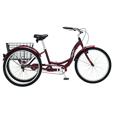 Schwinn Meridian Full Size Adult Tricycle 26 wheel size Bike Trike, red