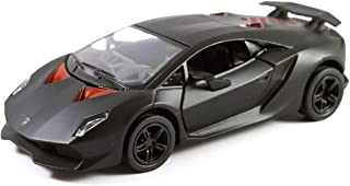 HCK Lambo Sesto Elemento in Matte Black Pull Back Toy Cars 1:40 Scale