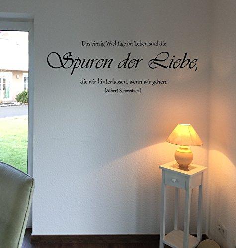 Wandtattoo-Wandaufkleber - Zitat v. Albert Schweitzer ***Spuren der Liebe*** - (Größen.- und Farbauswahl)