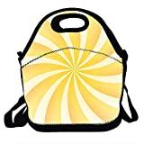 N / A Amarillo Aura giratoria Lunch Bag Cooler Totefor Men Women Adult Printing Printing Lunch Bags