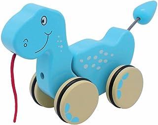 おもちゃの木製恐竜プラー