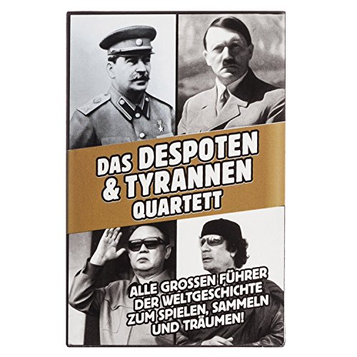 Goods & Gadgets Tyrannen & Despoten Quartett - Das Diktatoren Kartenspiel die 32 übelsten Führer der Geschichte auf Spielkarten