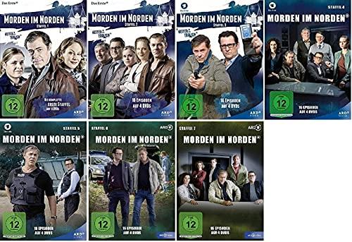 Morden im Norden Staffel 1-7 (1+2+3+4+5+6+7, 1 bis 7) Folge 1-112 / Heiter bis tödlich [DVD Set]