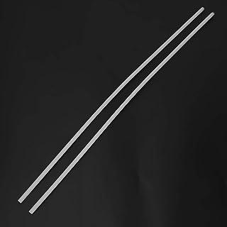 Polyoxymethylene Rods Engineering Plastic Round Bars sourcing map 2pcs Plastic Round Rod 1//8 inch Dia 20 inch Length White POM