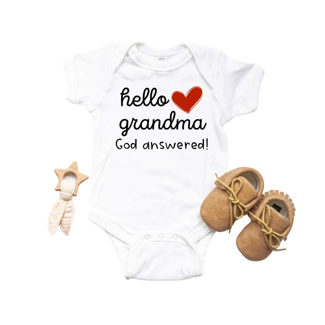 unisex Hello Grandma God Answered. Announcement. Baby Ranking TOP6 Pregnancy Miracle
