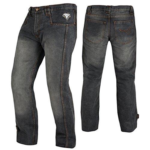 A-Pro, Jeans con protezione CE, per moto, colore nero, 34