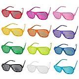ZWOOS 12 Pack Partybrille, Unisex Mode Shutter Shades Brille Gläser Sonnenbrille Kinder Erwachsene,...