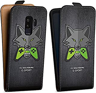 DeinDesign Tasche kompatibel mit Samsung Galaxy S9 Plus Flip Case Hülle VFL Wolfsburg Esport Merchandise Fanartikel
