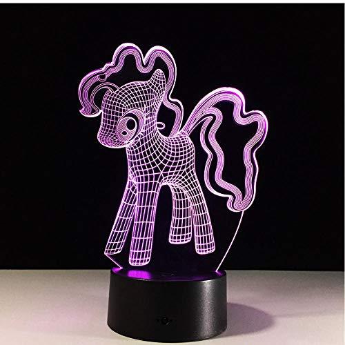 MRQXDP 3d My Little Pony nachtlampje tafellamp led nachtlampje creatieve kleurverloop sfeerverlichting kind baby vriend touch lampen verlichting abajur