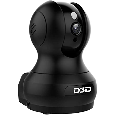 D3D 2MP (1920x1080P) Alexa Support WiFi Wireless AI Smart IP Home Security Camera CCTV with Cloud Storage & Night Vision Black (Model : F1-362B)