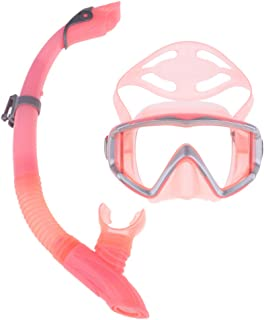 DYNWAVE シュノーケルマス ク ダイビングマス ク ドライスノーケルセット スノーケリン グギア 水泳 夏 全6色